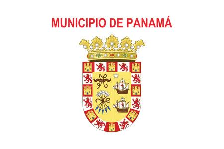 bandera de panama: Flag of Panama City, Panama. Vector Format Vectores