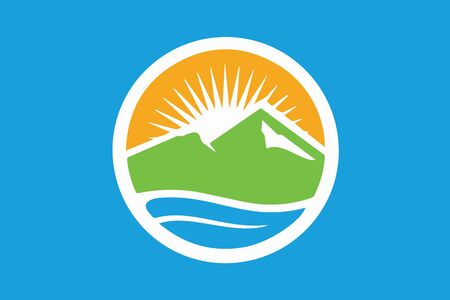 Flag of Provo, Utah, USA. Vector Format