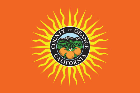 Flag of Orange County, California, USA. Vector Format Illustration