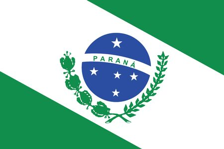 Flag of Parana State, Brazil. Vector Format