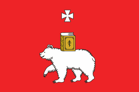 Flag of Perm, Russia. Vector Format