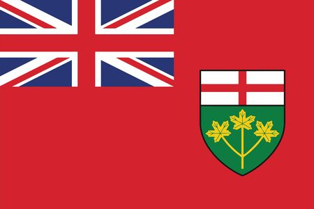Flag of Ontario Province, Canada. Vector Format