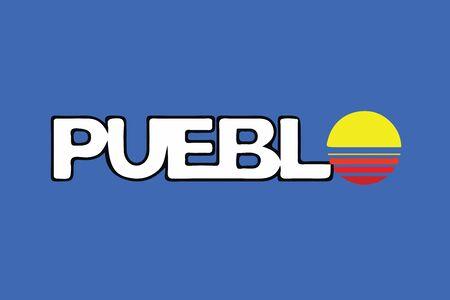 Flag of Pueblo, Colorado, USA. Vector Format