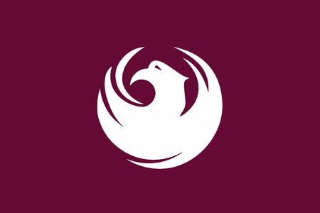 Flag of Phoenix, Arizona, USA. Vector Format