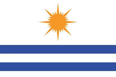 Flag of Palmas, Tocantins, Brazil. Vector Format Illustration