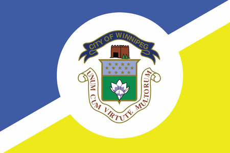 Flag of Winnipeg, Manitoba, Canada. Vector Format