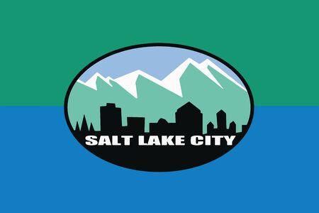 Flag of Salt Lake City, Utah, USA. Vector Format