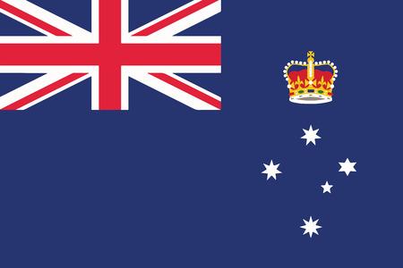 Flag of Victoria State, Australia. Vector Format