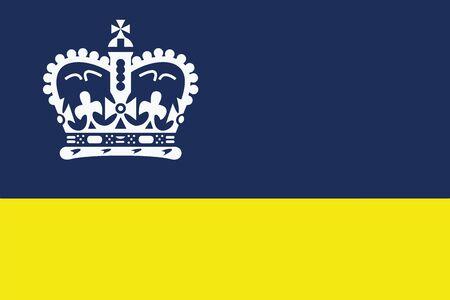Flag of Regina, Canada. Vector Format