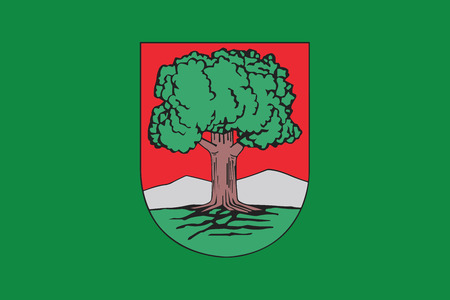 education policy: Flag of Walbrzych, Poland. Vector Format Illustration