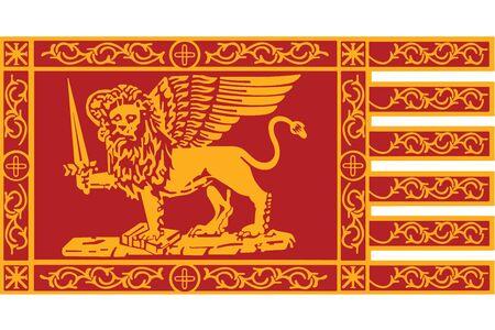 Flag of Venice, Italy. Vector Format Illustration