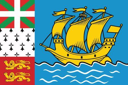 Flag of Saint Pierre and Miquelon (unofficial). Vector Format