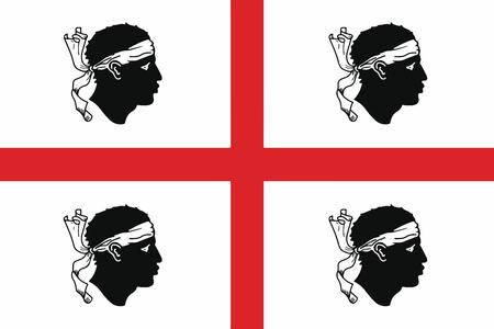 sardinia: Flag of Sardinia Region, Italy. Vector Format