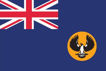 Flag of South Australia State, Australia. Vector Format