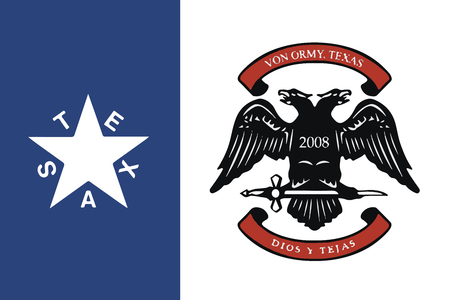 education policy: Flag of Von Ormy, Texas, USA. Vector Format Illustration