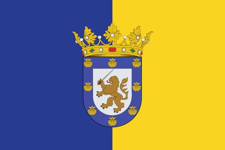 bandera chilena: Bandera de Santiago, Chile. Formato del vector Vectores