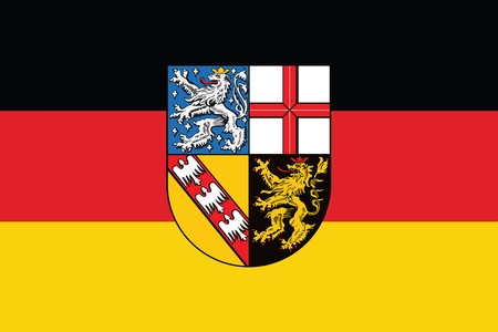 Flag of Saarland, Germany. Vector Format