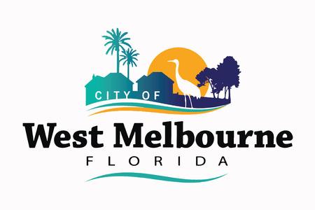 Flag of West Melbourne, Florida, USA. Vector Format