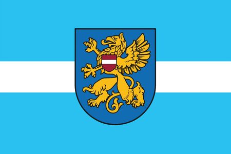 education policy: Flag of Rezekne, Latvia. Vector Format Illustration