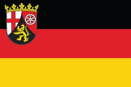 Flag of Rhineland-Palatinate, Germany. Vector Format Ilustrace