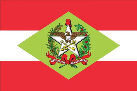 education policy: Flag of Santa Catarina State, Brazil. Vector Format