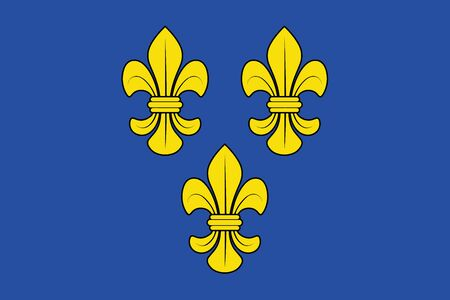Flag of Wiesbaden, Germany. Vector Format