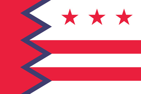 Flag of Washington, Maine, USA. Vector Format