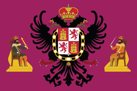 education policy: Flag of Toledo, Spain. Vector Format