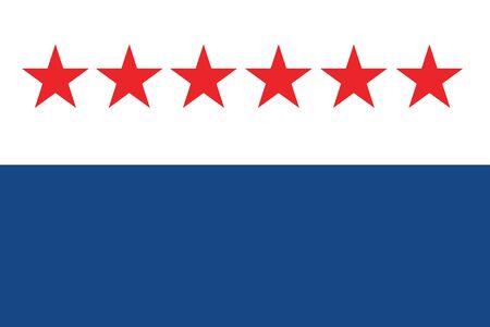 Flag of Sao Joao da Barra, Rio de Janeiro State, Brazil. Vector Format Illustration