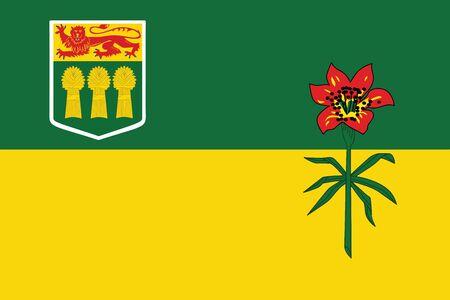 saskatchewan flag: Flag of Saskatchewan Province, Canada. Vector Format Illustration