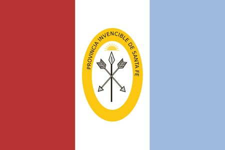 education policy: Flag of Santa Fe Province, Argentina. Vector Format