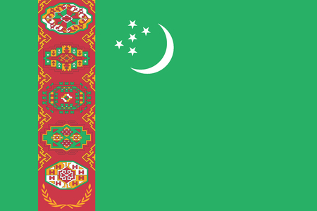 Turkmenistan Flag. Vector Format Illustration