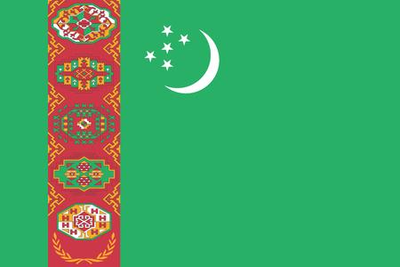 Turkmenistan Flag. Vector Format Ilustrace