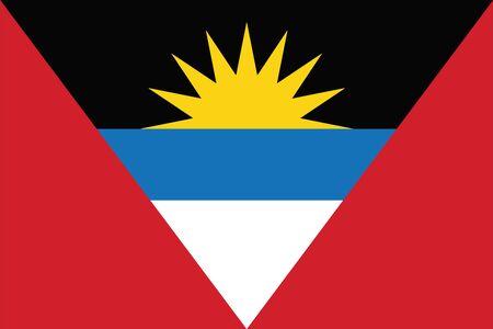 Antigua and Barbuda Flag. Vector Format Illustration