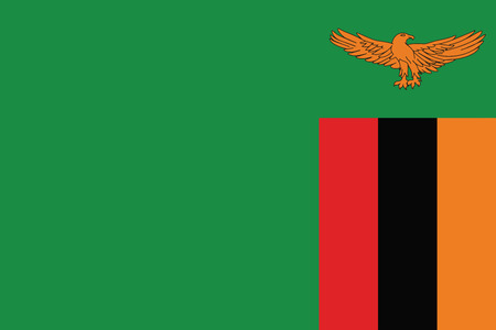 Zambia Flag. Vector Format