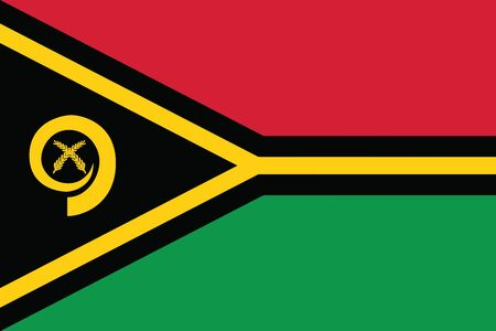Vanuatu Flag. Vector Format