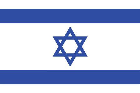 Israel Flag. Vector Format