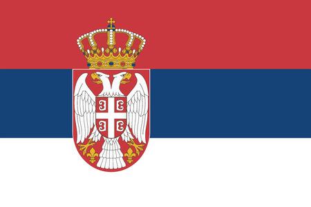 serbia: Serbia Flag. Vector Format