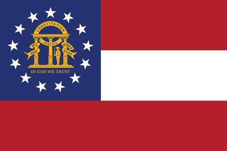 Georgia State Flag, USA. Vector Format