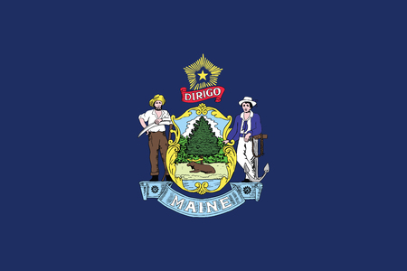 Maine State Flag, USA. Vector Format