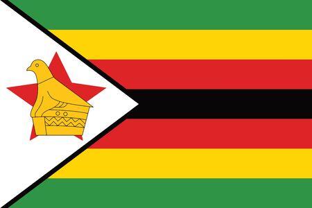 zimbabwe: Zimbabwe Flag. Vector Format