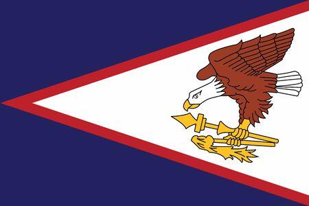 American Samoa Flag. Vector Format Illustration