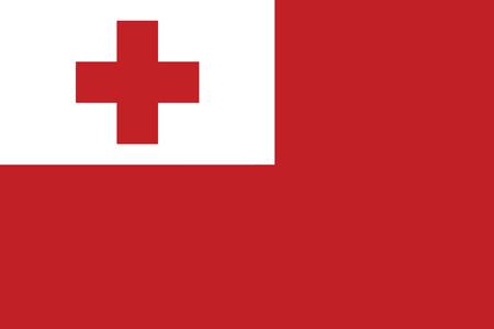 Tonga Flag. Vector Format Illustration