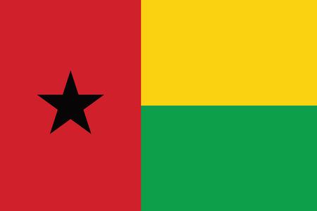 guinea bissau: Guinea Bissau Flag. Vector Format