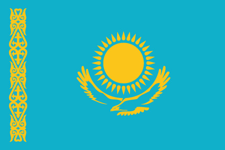 Kazakhstan Flag. Vector Format