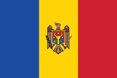 moldova: Moldova Flag. Vector Format