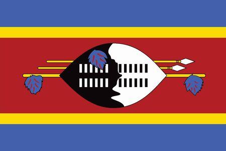 swaziland: Swaziland Flag. Vector Format