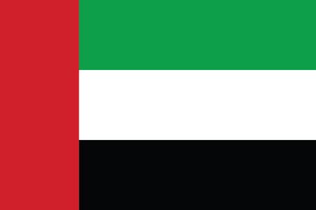 Emiratos Árabes Unidos Bandera. Formato vectorial