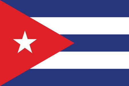 bandera cuba: Cuba Flag. Vector Format Vectores