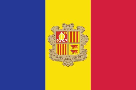 andorra: Andorra Flag. Vector Format Illustration